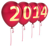 New Year 2014 balloons party holiday decoration. Winter celebration helium balloon — Stock Photo