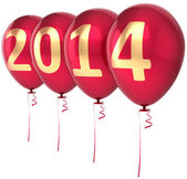Happy New Year 2014 balloons party decoration. Celebration helium balloon — Stock Photo