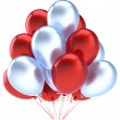Balloons birthday party decoration red silver balloon — Foto Stock #39487707