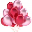 Balloons party happy birthday decoration pink red love helium balloon — Foto Stock #39487813