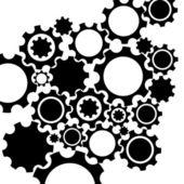 Schwarze gang mechanismus hintergrund. — Stockvektor