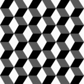 Geometric pattern, seamless 3 D background. — Stockvector