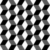 Geometric pattern, seamless 3 D background. — Stock Vector