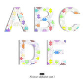 Abstract vector alphabet. Eps10. — Stock Vector