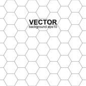 White hexagonal texture, seamless vector background. — Stock Vector