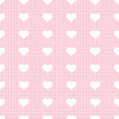 Simple seamless pattern with hearts. Vector illustration. — Stock Vector