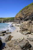 Cornish coastline in Summer, Cornwall — Stock Photo