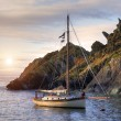 Yacht, Cornwall, England — Stock Photo
