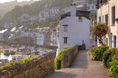 Polperro Harbour at Sunset — Foto Stock