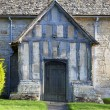 Stock Photo: Warwickshire church porch