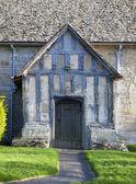 Pórtico igreja de warwickshire — Foto Stock