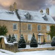Cotswold home with snow — Stock Photo #35146353
