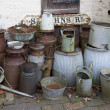 Old milk churns — Stock Photo
