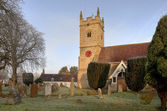 Warwickshire stone church — Foto Stock