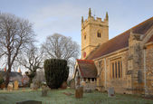 Warwickshire stone church — Stock Photo