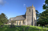 Cotswold church at Ebrington — Stock Photo