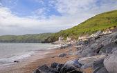 девон береговой линии летом — Стоковое фото