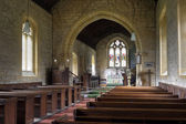 English church interior, stanway — Stock Photo