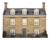 Cotswold house, cut-out — Stock Photo