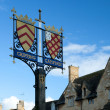 Chipping Campden town sign — Stock Photo