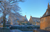 Cotswold village in winter — Stock Photo