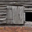 Barn pitch hole — Stock Photo