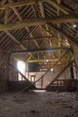 English hay barn interior — Stock Photo