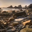 Cornish coast at sunset — Stock Photo