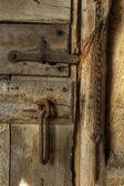 Old rusty door latch — Stockfoto