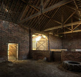 Traditional English brick hay barn — Stockfoto