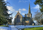 Vintern kyrka — Stockfoto