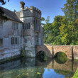 Moated house, Warwickshire — Stock Photo