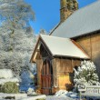 English church in winter — Stock Photo