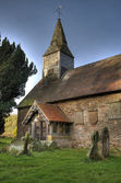 Small stone church, England — Foto Stock