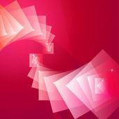 Abstraktní pozadí červené Quad — Stock vektor