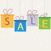 Sale, gifts. vector — Wektor stockowy