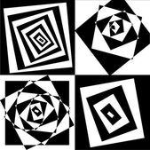Spiral effect background illustration. vector — Stock Vector