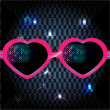 Stockvektor : Glasses on disco background. vector