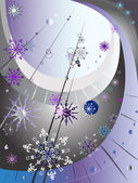 Decorative winter composition — Stock Vector