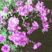 Ramo de flores de color púrpura — Vector de stock