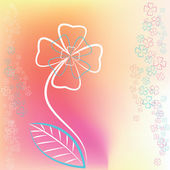 Abstract graphic buttercup flower — Vector de stock