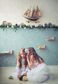 Sisters little — Stock Photo