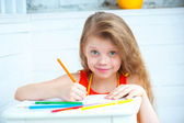 Girl draw — Stock Photo