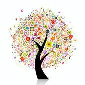 Abstrato colorido árvore — Foto Stock