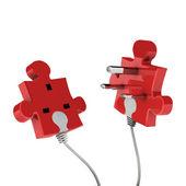 Puzzle plug — Foto de Stock