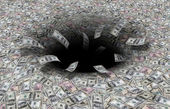 Money black hole — Stock Photo