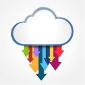Digital cloud downloading — Stock Photo