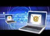 Email sending — Stock Photo