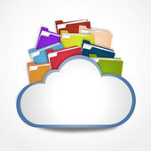 Internet cloud with files — Stock Photo
