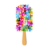 Colorful puzzle ice-cream — Stock fotografie